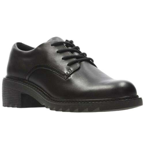 Clarks Frankie Grove Girls Chunky Sole Lace Up School Shoes