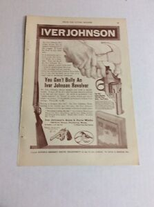 1916 MAGAZINE AD #A3-160 - Iver Johnson Revolvers