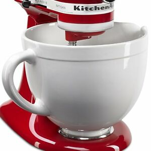 Kitchenaid Ksmcb5lw 5 Quart Ceramic Bowl 4 5 Tilt Head