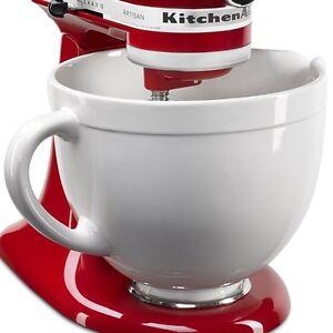 Kitchenaid Ksmcb5lw 5 Quart Ceramic Bowl 4 5 Tilt Head