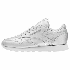 Women s Classic Leather Diamond Silver   BD5757   Reebok CL Glittery ... c320f650e
