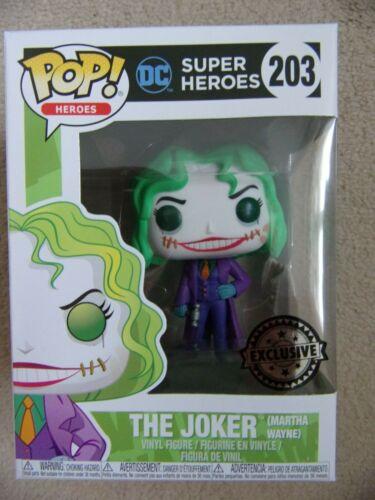 MARTHA WATNE as THE JOKER Excluisve DC Super Heroes 203 Batman Funko Pop