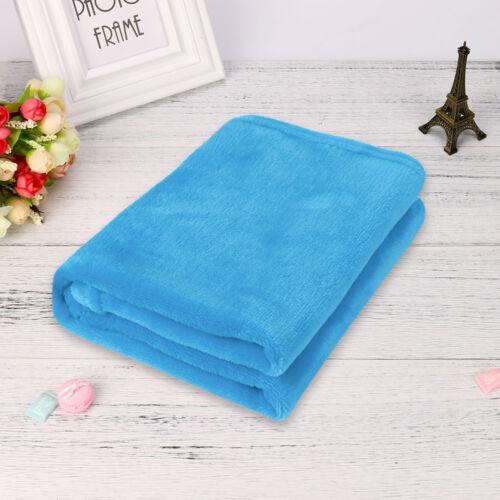45*65CM Solid Soft Throw Kids Blanket Warm Coral Plaid Blankets Flannel RK