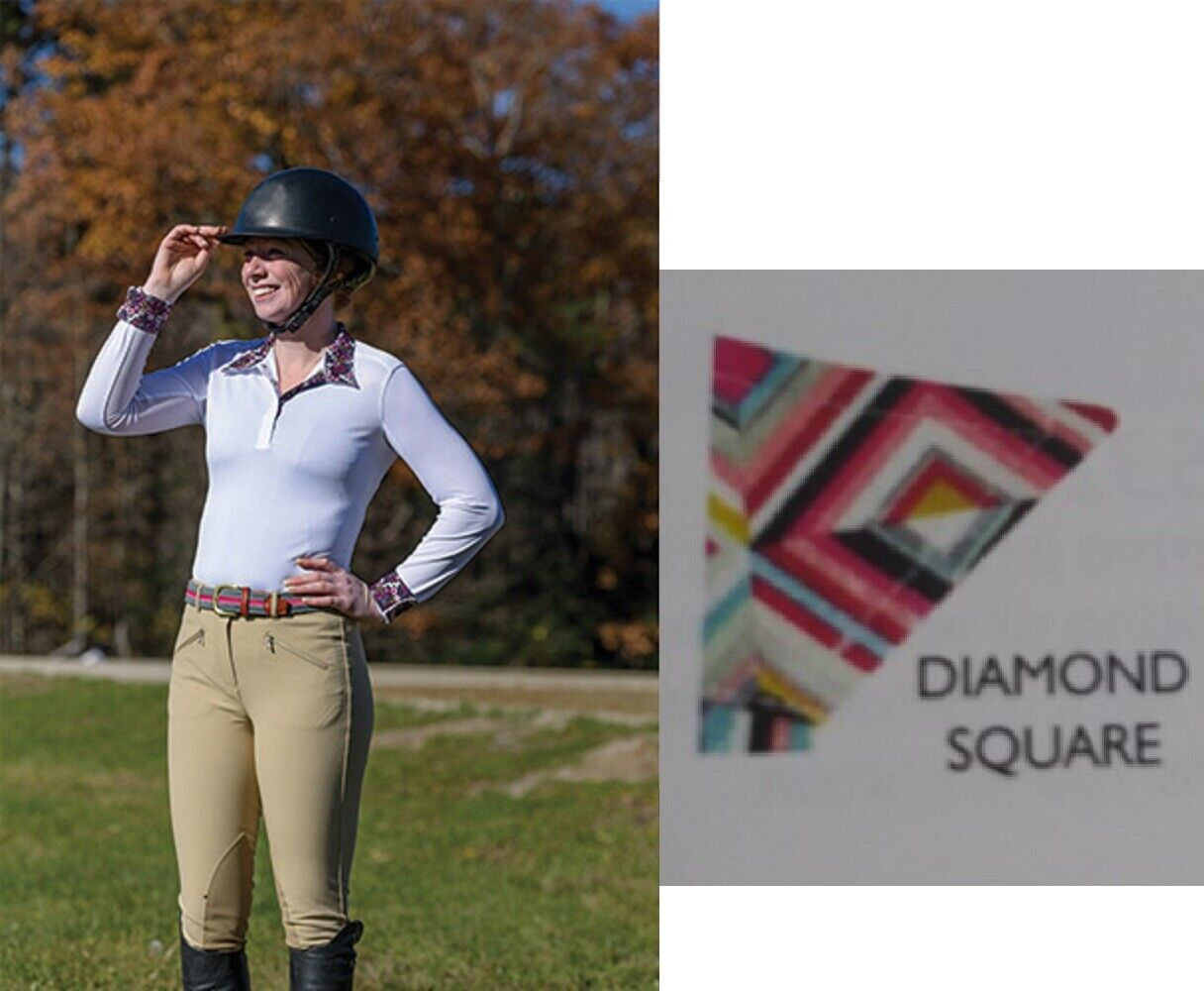 Shires Equestrian Style Show Shirt Long Long Long Sleeve Performance Stretch Fabric  87896 747112