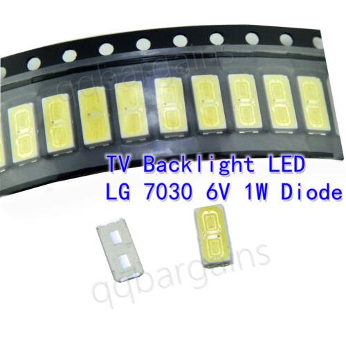 LG TV Backlight LED Diode SMD 7030 6V 1W Cool White Sharp Vizio RCA 10PCS Dual