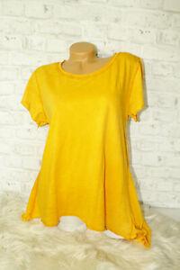Italy-T-Shirt-Vintage-Gr-36-38-40-42-Shirt-Oversized-Long-Puder-orange-blogger