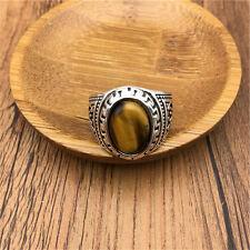 Vintage Men's Woman Alloy Silver Vogue Design Mini Stone Ring Size10