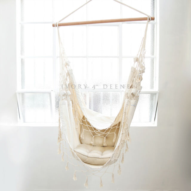 French Provincial Hanging HAMMOCK CHAIR Relax in Luxury and Comfort Shabby Cream
