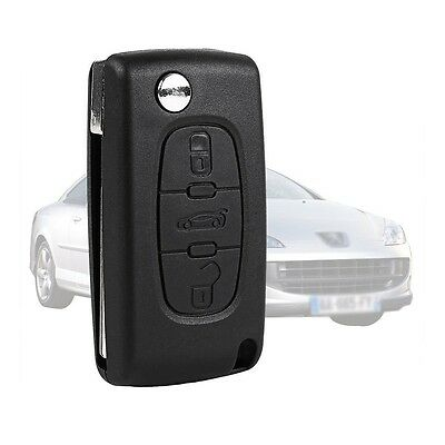 Remote Key Fob Shell Case Housing 3 Buttons For Peugeot 406 407 408 307 107
