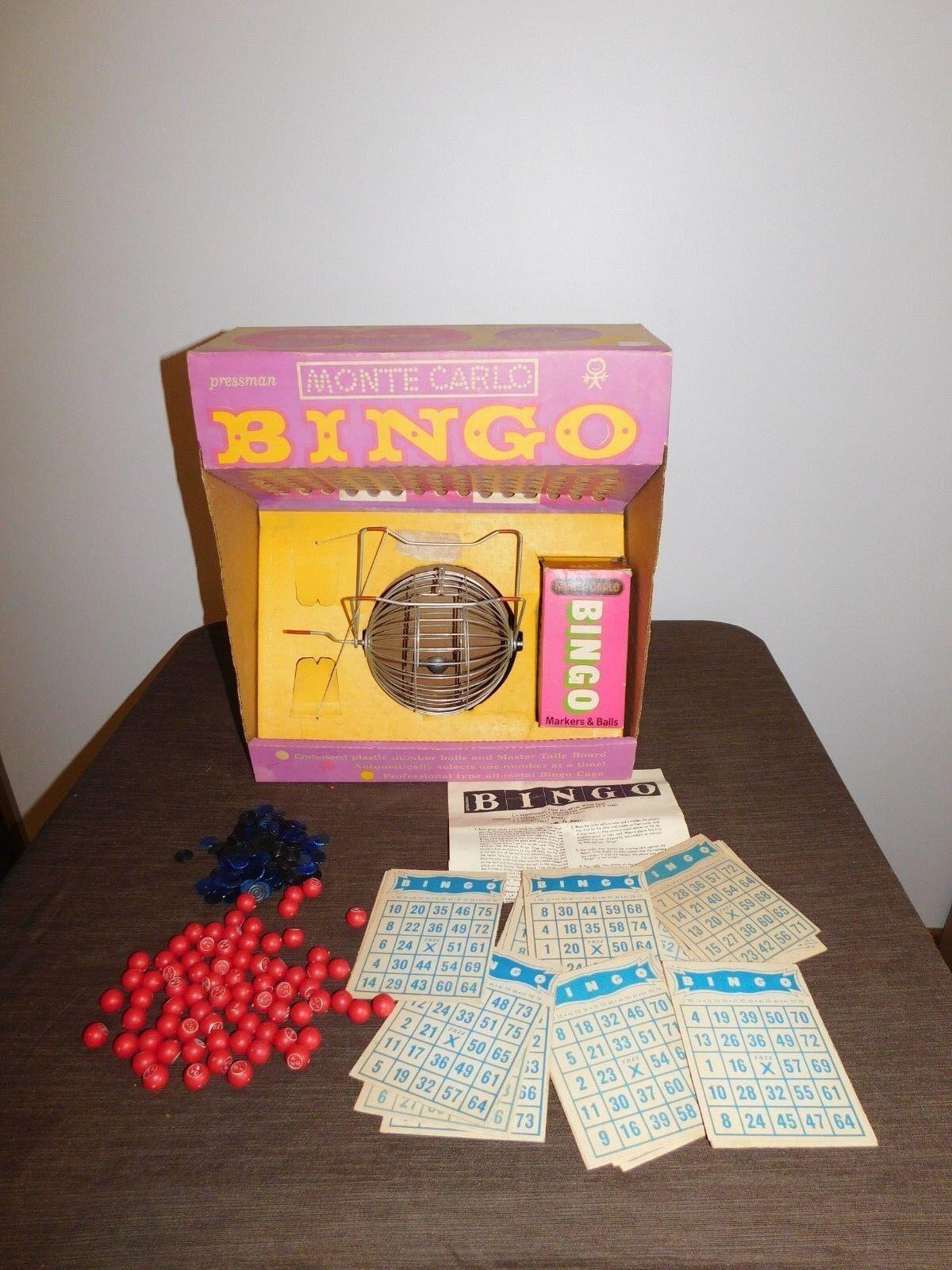 PRESSMAN TOY VINTAGE MONTE 1962 BOX IN GAME BINGO CARLO