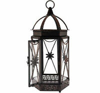 Qvc 20 Indoor/outdoor Metal W/ Glass Panels Lantern By Home Reflections