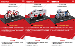 7-11 Limited A Set Ducati World Racing (11 Bikes and 2 Helmets )Free Shipping