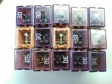 30 amp j case maxi female plug in blade cartridge pal fuse 18 pcs lots
