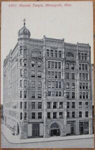 1910-Postcard-Masonic-Temple-Minneapolis-Minnesota-MN