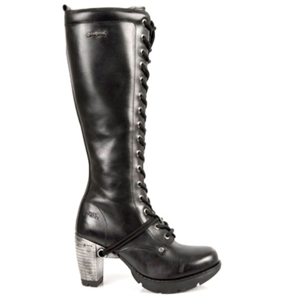 New Rock botas mujer - Punk Gothic botas - mujer Style TR005 S1 negro 39b5dd