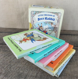 Little-Treasury-Of-Brer-Rabbit-Set-Of-6-Books-1988-With-Box-Cover