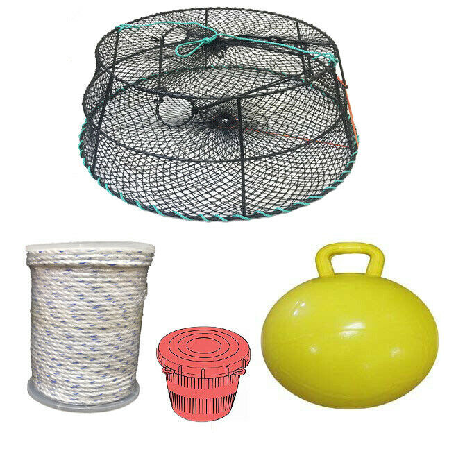 KUFA Sports Vinyl Coated Tower Style Prawn Trap & Accessories CT79+PAM5