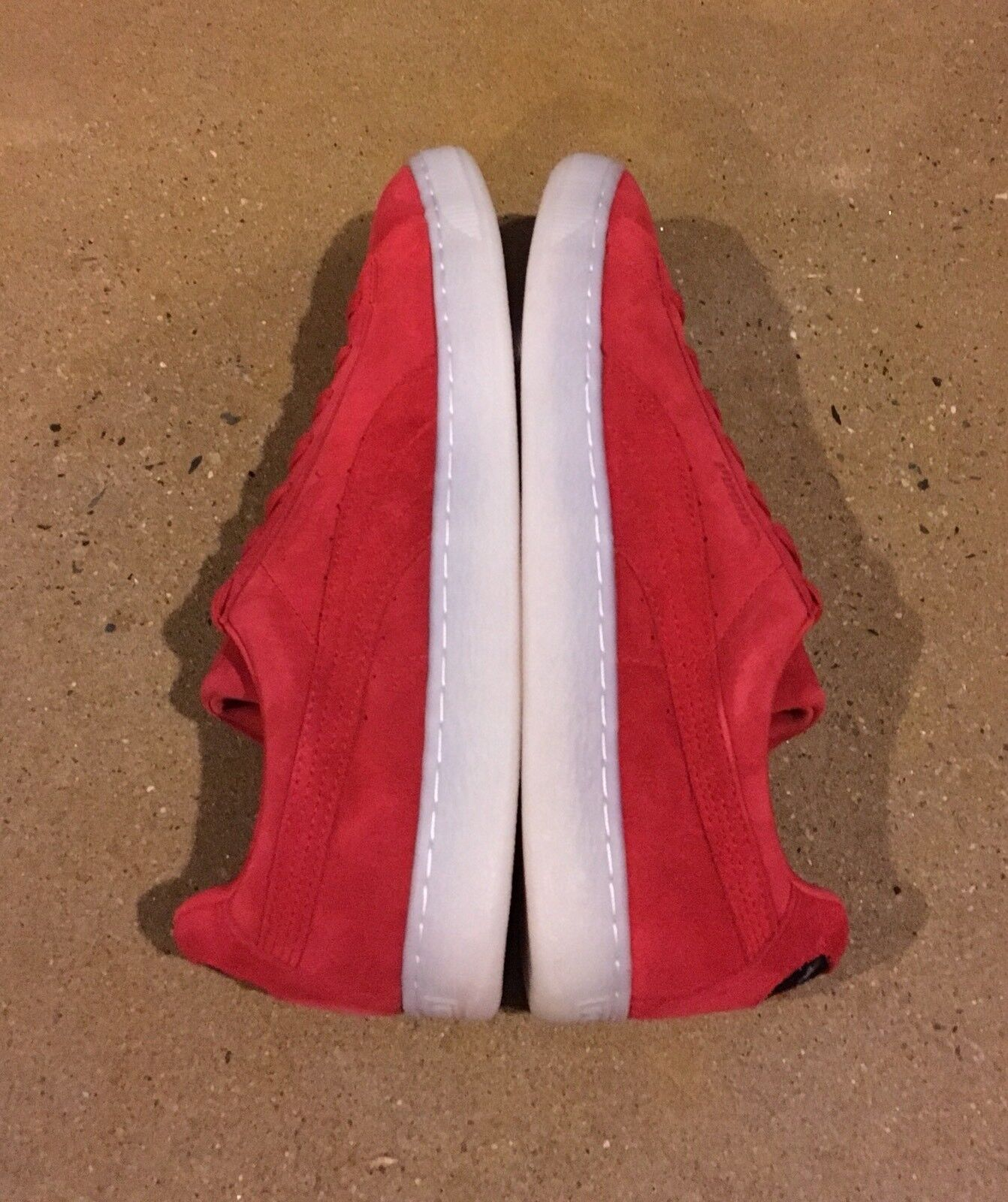 Puma Suede Classic colord Size 13 US High Risk Red Black Sneakers Deadstock