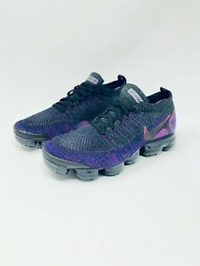 new style 254c0 4cd6d Details about NIKE AIR VAPORMAX FLYKNIT 2 BLACK / NIGHT PURPLE Men's Size  10 / Women's 11.5