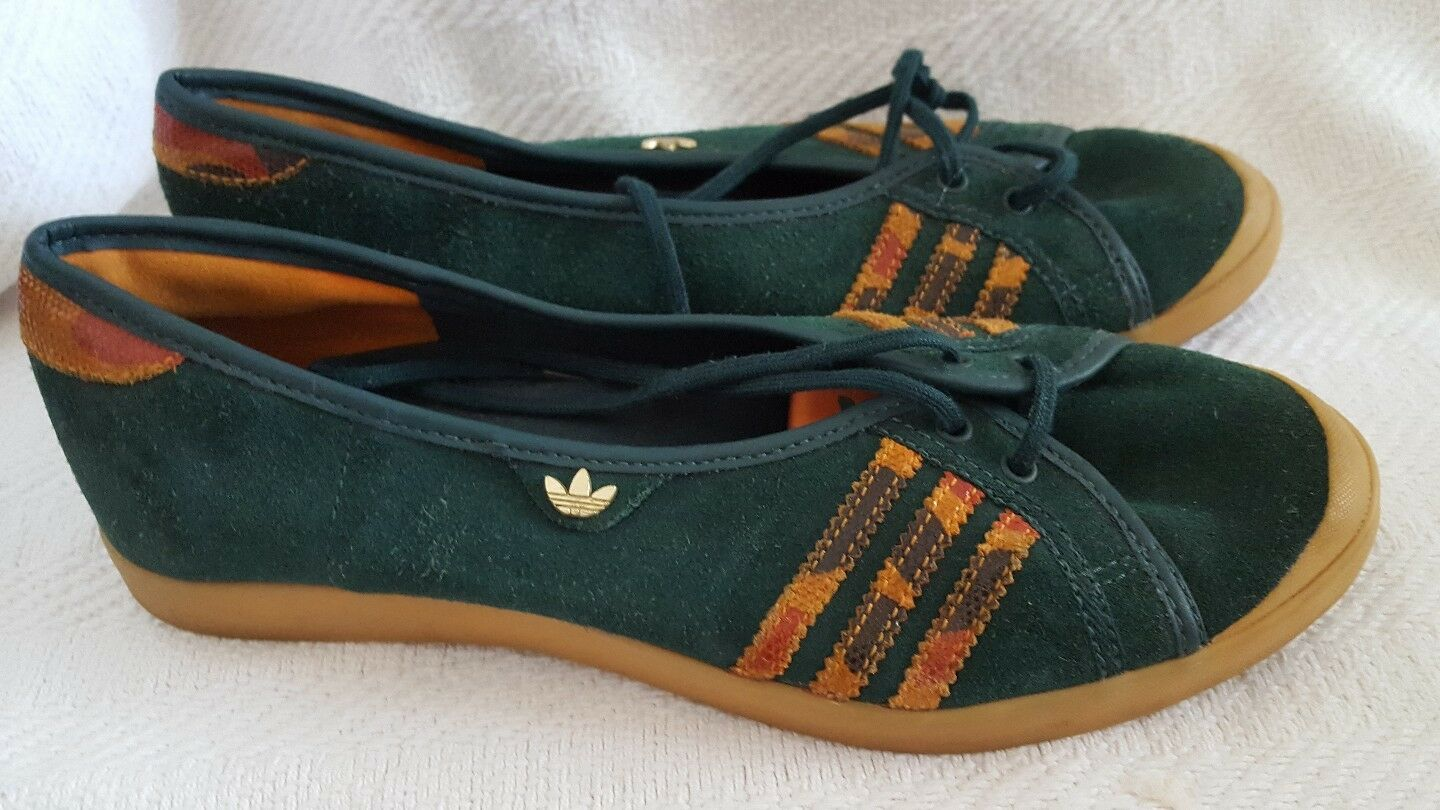 Adidas Adria Green Ballerina shoes Sleek Series size 5.5 excellent condition