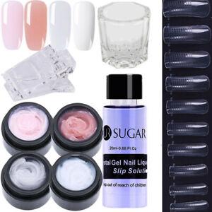 UR-SUGAR-8-Pcs-Nagel-Poly-AcrylGel-Gellack-Slip-Solution-Tipps-Erweiterung-Lot