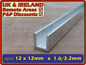 "Aluminium Channel║1/2"" x 1/2""║(C U section, gutter, profile, glazing,edging)"