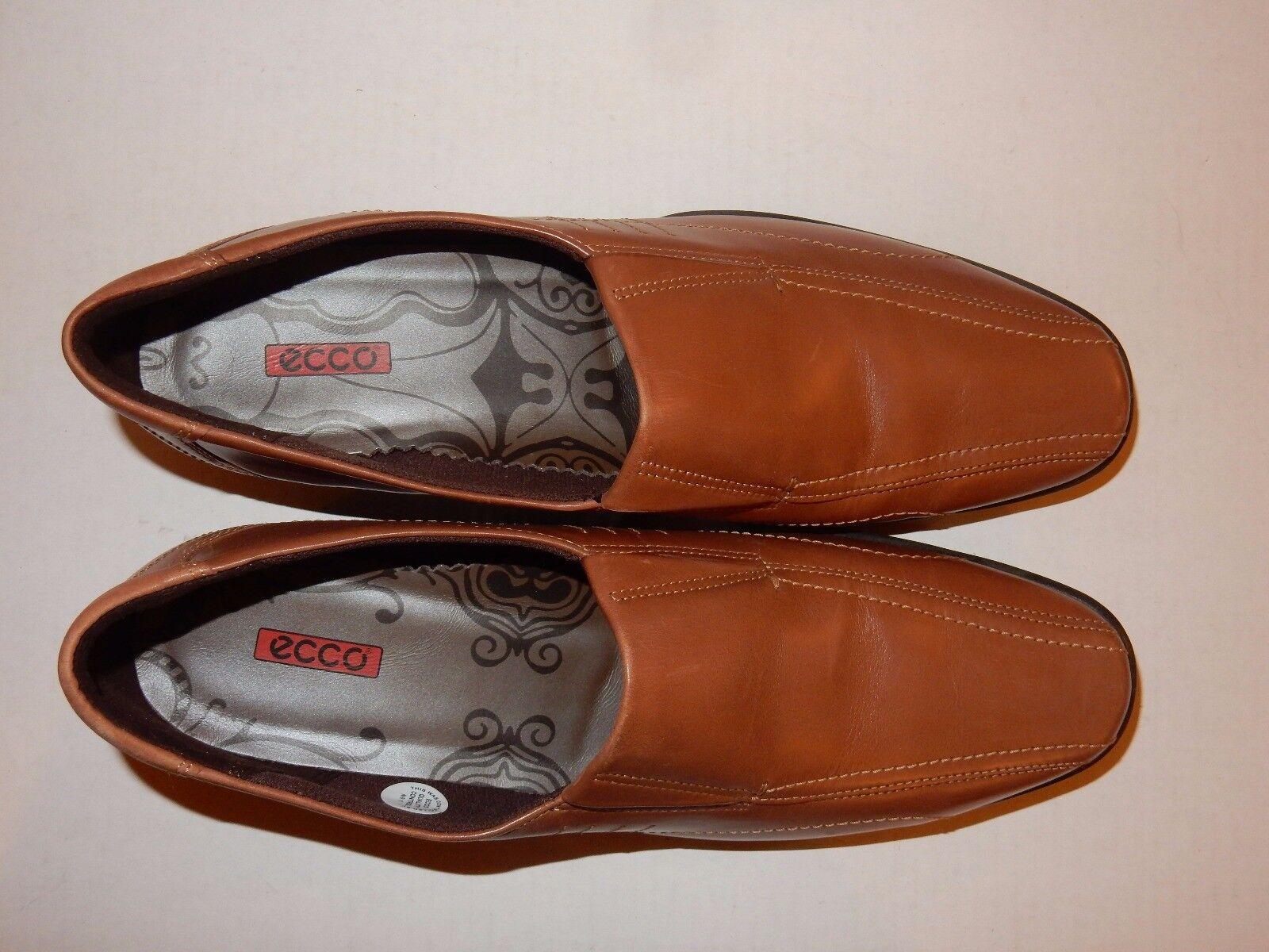 "NEW Ecco ""Shine"" Slip On On On Mahogany  Leder Loafers w Wedge Heel EU 42 11-11.5 US 3ef7fb"