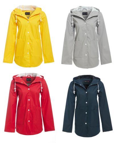 Womens Hooded Buttoned Raincoat Jacket Ladies Kagool Cagoule Mac 8-16