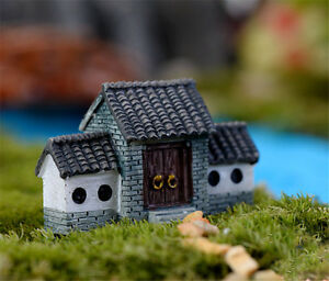Old-House-Mini-Garden-Ornament-Landscape-Figurine-Craft-Fairy-Plant-Pot-DIY