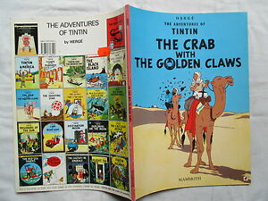 TINTIN-LE-CRABE-AUX-PINCES-D-039-OR-EN-ANGLAIS-EDITIONS-MAMMOTH-1997