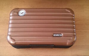 rimowa amenity kit for lufthansa airline first class brown case only germany ebay. Black Bedroom Furniture Sets. Home Design Ideas