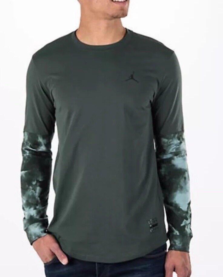 Air Jordan 801573-327 Clouded Nightmares Long Sleeve Green Size 3XL