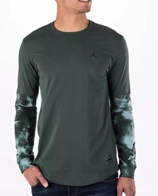 b6fca34597b Air Jordan 801573-327 Clouded Nightmares Long Sleeve Green Size 3xl | eBay