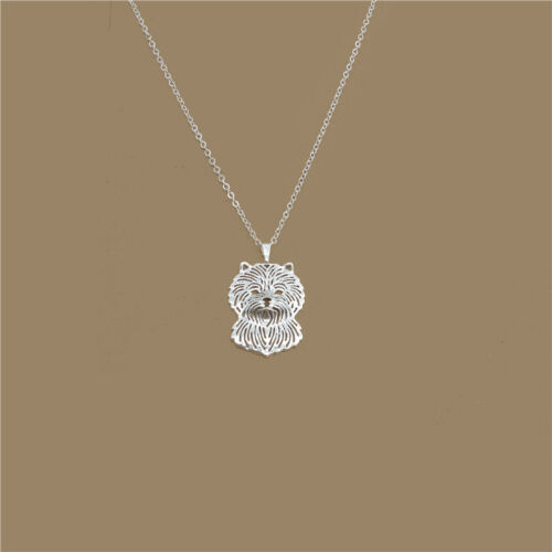 Carin Terrier Dog Pendant Necklace Silver Tone ANIMAL RESCUE DONATION