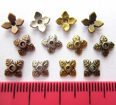 100 x tibetan leaf bead caps 7mm MBC4 choose colour