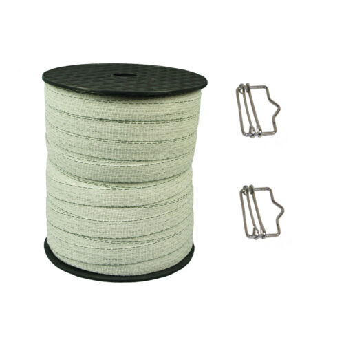 2 free tape conn FREE P+P Electric Fencing 1 x 200 meters White 20mm Tape