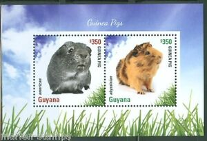 Guyana-2014-cobayes-souvenir-sheet-I-neuf-sans-charniere