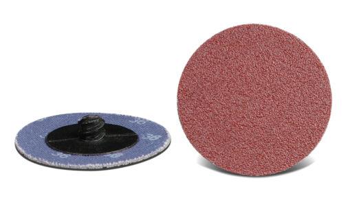 "50pcs 2/"" 50 Grit Roll on Quick Change Discs Aluminum Oxide USA CGW 59527"