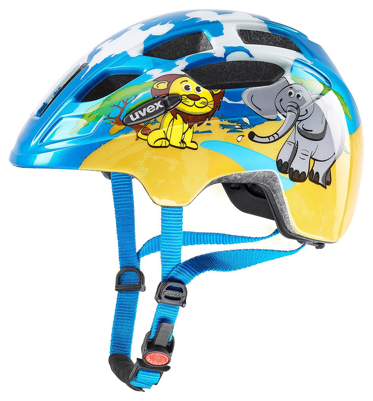 Uvex Finale Junior Kinder Fahrrad Helm Gr. 48-52cm blue yellow 2019