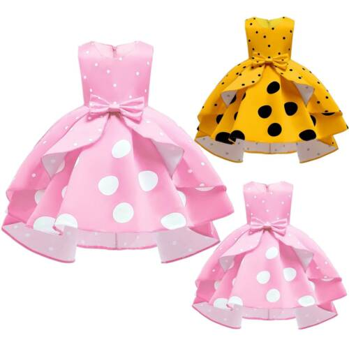 Kids Girls Tutu Dress Princess Formal Party Wedding Bridesmaid Ball Gown Dresses