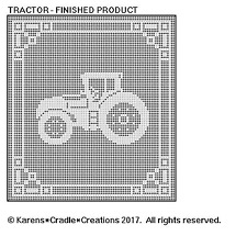 TRACTOR Filet Crochet Pattern
