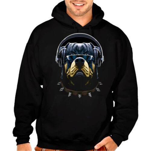 New Rottweiler Headphone Music Hoodie sweatshirt rave party dope edm swag gansta