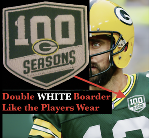 new styles 3161c 84815 Details about Green Bay Packers 100th SEASON PATCH Correct On Field Size -  Jersey 100 Seasons
