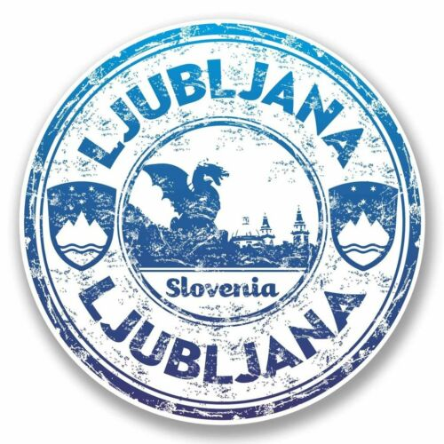 2 X Ljubljana Eslovenia Pegatina de vinilo coche viaje equipaje #9854