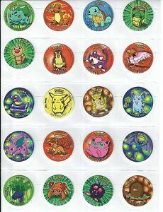 *RARE/Vintage* Pokemon Go Semi-Complete Set of 50 - 1st Series Tazos/Taso/Pog<wbr/>s