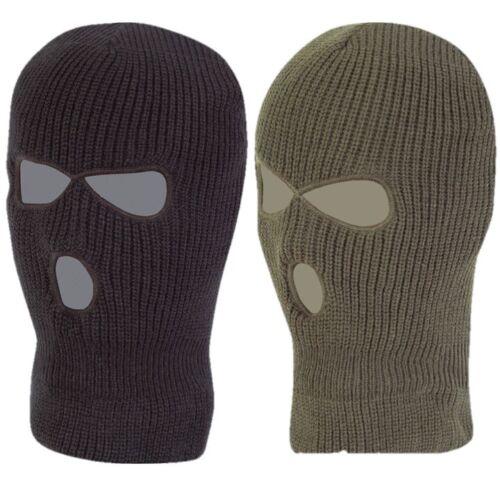 Uomo Balaclava SAS Stile Inverno Copricapo Militare Faccia Disguise Verde Nera