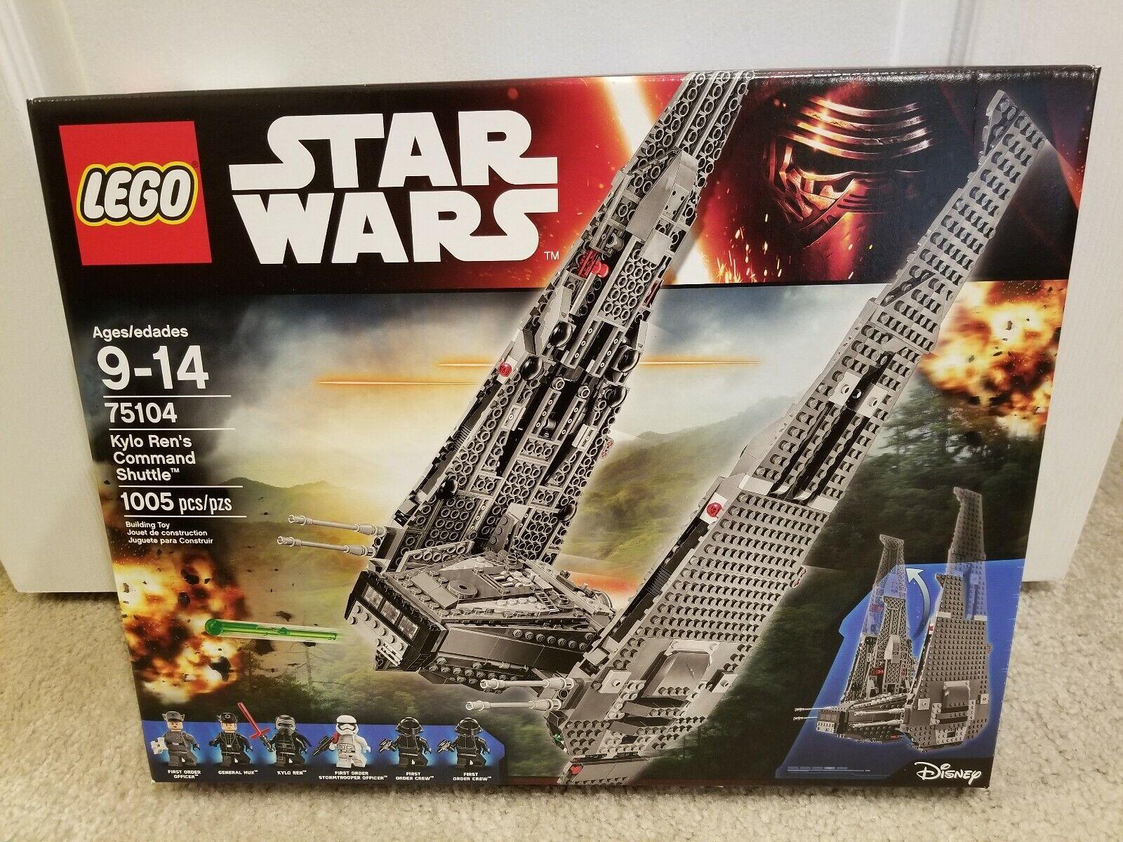 nuovo Sealed LEGO 75104 estrella guerras Kylo Ren's Comuomod  Shuttle  garantito