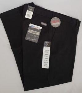 8ac74be4 Wrangler Size 35 Black George Strait Flat Front Cotton Twill Pants ...