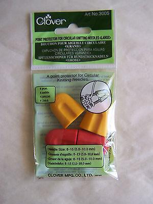 Circular Knitting Needle Point Protectors 4pc LG 3005