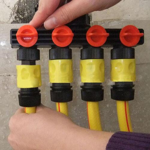 4 WAY GARDEN TAP CONNECTOR SPLITTER SHUT OFF  1 TAP TO 4 WATER HOSE ADAPTOR